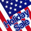 Holiday sale banner with the american flag as a background. - Stock Photo