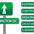Washington dc important streets and roads — Stock Photo