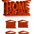 Home icons. Vector file also available. - Stock Photo