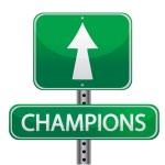 Champions sign — Stock Photo