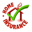 ストック写真: Home Insurance concept isolated on white