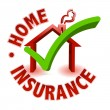Stock Photo: Home Insurance concept isolated on white