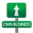 Own business street sign - Stock Photo