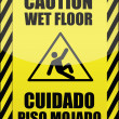 English and Spanish wet floor sign — Stock Photo #6416584