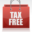 Tax free shopping bag over a white background — Stock Photo