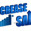 Increase Sales chart and text. Vector file also available. / Increase Sales — Foto Stock #6416660