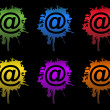 Stock Photo: Ink Email splatters sign isolated on white.