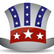 US hat illustration design isolated over a white background — Stock Photo