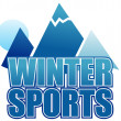Winter sports sign — Stock Photo