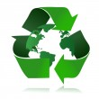 Recycle logo with the earth inside — Stock Photo #6417447