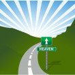 Stok fotoğraf: Road to heaven Illustration