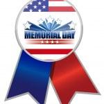 Memorial Day Ribbon — Stock Photo