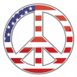 United states peace sign on white background. Vector file available - Foto de Stock