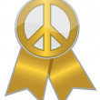 Peace sign / Gold — Stock Photo