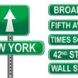 New York Street signs. Vector File available. - Stock Photo