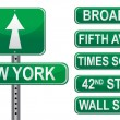 New York Street signs — 图库照片