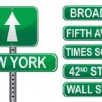 New york straat tekenen — Stockfoto