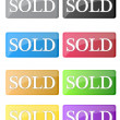 Stock Photo: Different sold icons isolated over white background.