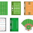 Set of sport fields and courts. Vector file also available. — Stock Photo