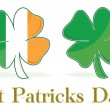 Stock Photo: Irish Four Leaf Clover flag. eps available