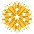 Golden Star ball illustration isolated over a white background. — ストック写真