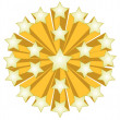 Golden Star ball illustration isolated over a white background. — Stock Photo