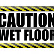 Caution wet floor. vector file available — Stock Photo