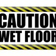 Caution wet floor. vector file available - Stock Photo