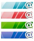 Internet Digital banners in four different colors. — Stock Photo