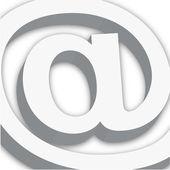 E-mail teken geïsoleerd op wit. vector bestand beschikbaar — Stockfoto