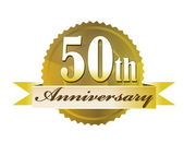 50th Anniversary Seal — Stock Photo