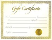 Gift Certificate — Stock Photo
