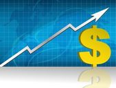 Dollar currency trading graph. — Stock Photo