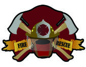 A Firefighter patch with symbols. — Stock Photo