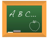 Illustration of a chalkboard with the headline a b c... — Stock Photo