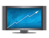Graph on monitor — Stock Photo