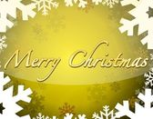 Merry christmas themed background with snowflakes and stars. — Stock Photo
