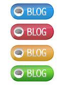 Blog button — Stock Photo