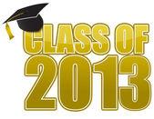 Beyaz arka plan üzerinde izole mezuniyet 2013 kap. — Stok fotoğraf