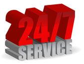24/7 service — Stock Photo