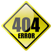 404 error sign — Stock Photo