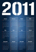 Calendar for 2011 — Stock Photo