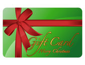 Merry Christmas Generic gift card. Vector File available. — Stock Photo