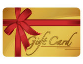 Gold gift card. Vector File available. — Stock Photo