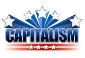 Capitalism sign — Stock Photo