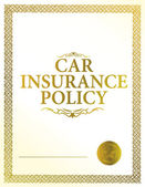 Automobile insurance policy — Stock Photo