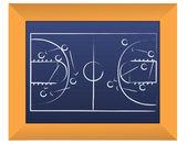 Kosz piłka strategii tablica ilustracja projekt — Zdjęcie stockowe