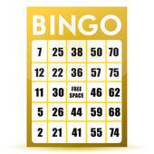 Bingo card illustration design isolated over a white background — Stock Photo
