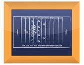 Teamwork Football Game Plan Strategy on Blackboard — Stock Photo