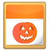 Halloween pumpkin calendar icon isolated on white background. — Stock Photo